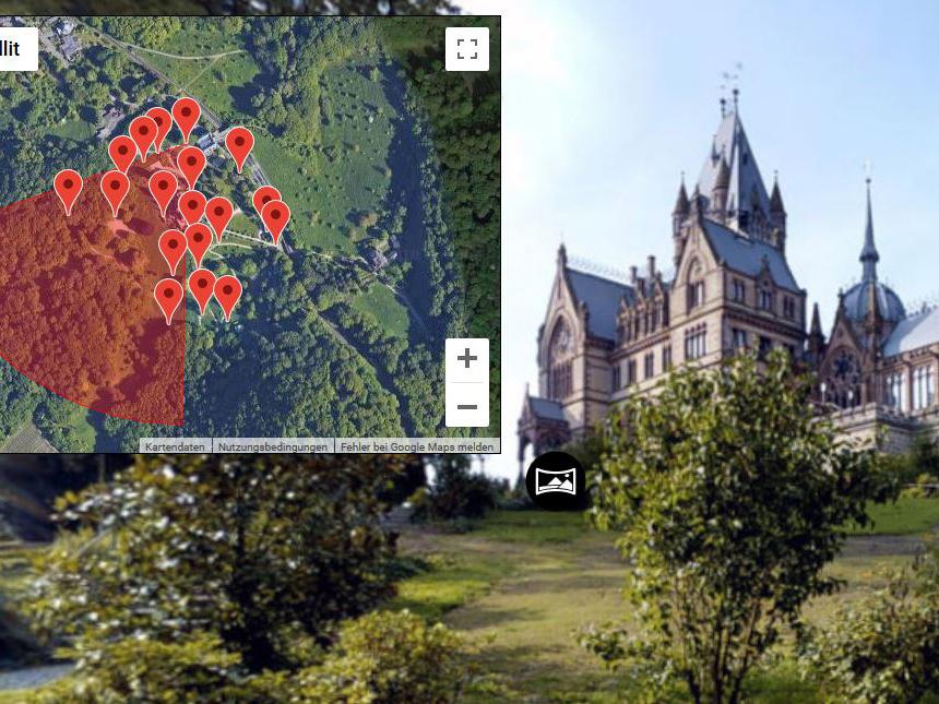 Verknüpfte 3Dshocases: Virtuelle Rundgänge durch Ortschaften und Sehenswürdigkeiten