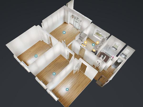 3Dshowcase zur Online Vermietung einer Wohnung über Immobilienscout 24