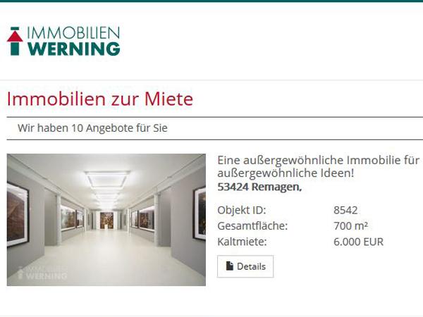 Immobilien Werning nutzt 3Dshowcase zur Vermarktung von Immobilie